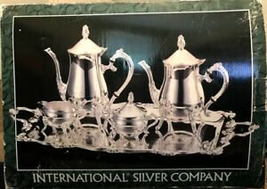 Silverplated 5 Pc Coffee Tea Set Nib International Silver Company