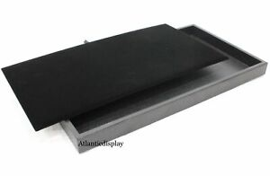 Jewelry Tray Display With Removable Velvet Pad Insert 14 X 8 X 1 Black