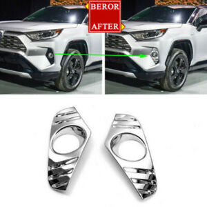 Auto Light Trim Parts Accessories Abs Exterior Lamp Cover For Toyota Rav4 2019