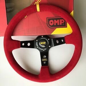 350mm Red Suede Deep Steering Wheel Race Draft For Omp Momo Boss Kit Yl Strip