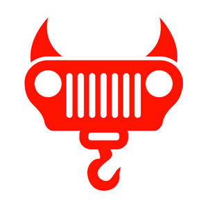 Devil Winch Decals For Jeeps