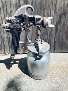 Binks Model 18 Paint Sprayer With Binks Drip Proof Canister And 66sf Tip