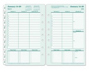 Franklincovey Brown Trout Organizer Refill 5 1 2 X 8 1 2 100 Recycled Jan