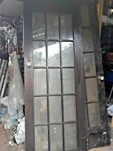 Antique Vintage Victorian Style Interior Wood Door W Glass Hardware