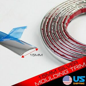 240inch Molding Trim Strip Silver For Car Body Side Door Grille Bumper Decorate