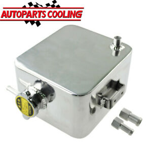Universal 2 5l Aluminum Coolant Radiator Overflow Recovery Water Tank Bottle New
