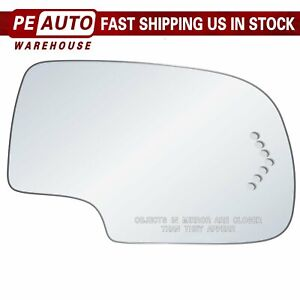Mirror Glass Full Adhesive For 03 07 Gmc Chevy Cadillac Rh Passenger Side Signal