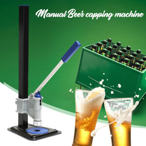 Manual Capping Machine Soft Drinks Homebrew Beer Sealing Sealer Blue Usa Stock