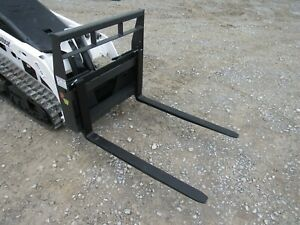 Bobcat Mt 453 S70 Mini Skid Steer New 42 Pallet Forks Attachment Ship 179