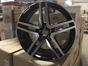 18 Black Machined Mercedes Benz Amg Rims E Class E350 E320 E500 E550 Staggered