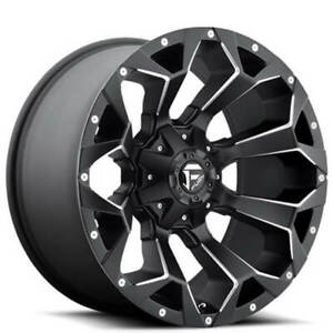 20x9 Fuel Wheels D546 Assault Black Milled Off Road Rims And Tires Package