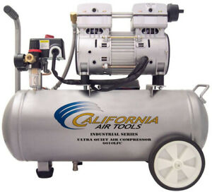California Air Tools Industrial Air Compressor 6 0 Gallon 1 0 Hp Quiet Oil Free