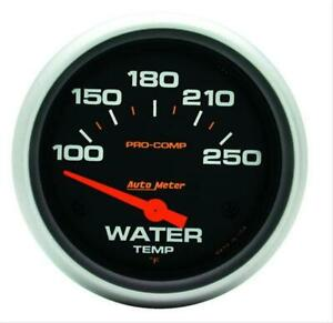 Autometer 5437 Pro Comp Electrical Water Temperature Gauge 2 5 8 Dia Black Face