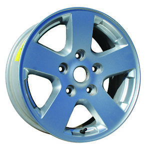 New 17x7 Alloy Wheel 5 Double Spoke Sparkle Silver Full Face Painted