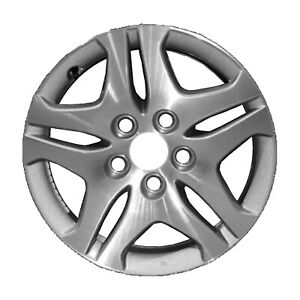 New 16x7 Alloy Wheel 10 Spokes Sparkle Silver Textured With A Machined Face