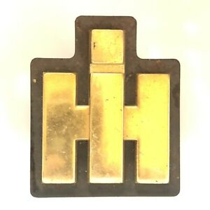 40 s 50 s International Harvester Ih Truck Hood Grille Badge Emblem Brass