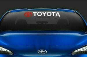 Toyota Vehicles Decal Banner Highlander Windshield Sticker Avalon Window Letters