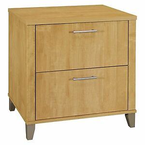 Bush Furniture Wc81480 Somerset 30w Lateral File Maple Cross