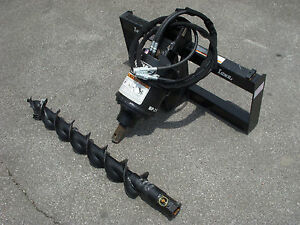 Bobcat Skid Steer Attachment Lowe Bp210 Hex Auger With 6 Bit Ship 199
