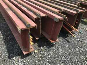 I beam Bridge Crane Rail Runway 24 x9 X 50 Long Approx 129 Lbs ft