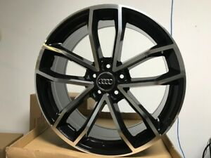 18 S5 Black Machine Face Rims Wheels Fits Vw Jetta Passat 18x8 5 35 Offset
