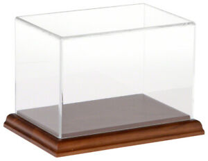 Plymor Clear Acrylic Display Case With Hardwood Base 6 W X 4 D X 4 H
