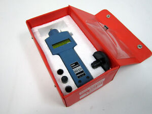 Mitutoyo 982 521 Digital Tachometer With Four Attachments
