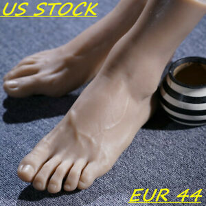 Silicone Display Men Foot Model Mannequin Lifelike One Feet Right Or Left Legs