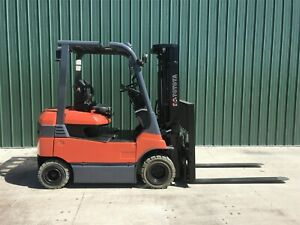 2014 Toyota 7fbh25 Forklift Electric Lift Truck Non marking Tires