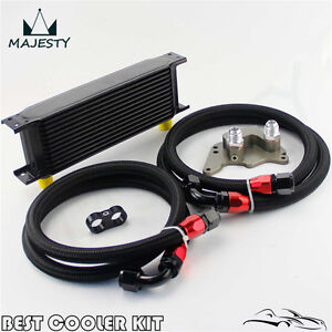 13 Row Engine Oil Cooler Kit For Bmw Mini Cooper S Supercharger R56 Black