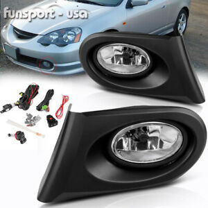 For 2002 2003 2004 Acura Rsx Dc5 Jdm Clear Bumper Fog Light Lamps W Bulbs Wiring