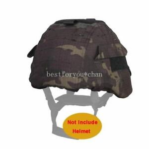 Emerson Tactical Airsoft Military MICH 2000 Ver2 Helmet Cover W Back Pouch MCBK