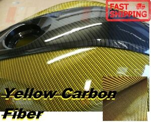 1m 10m Yellow Carbon Water Transfer Printing Film hydrographic Usa Fast Ship Wh