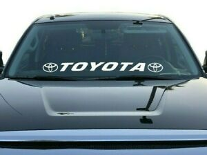 Toyota Vinyl Decal Window Sticker Windshield Graphics Tacoma Tundra