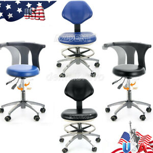Usps Dental Adjustable Stool Dentist Doctor Hydraulic Rolling Chair Pu Leather