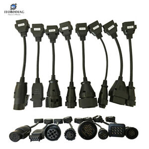 8pcs Truck Cables Full Set For Tcs Cdp Pro multidiag Pro Truck Adapter Interface