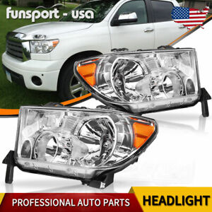 Headlight Assembly For 2007 2013 Toyota Tundra 08 17 Sequoia Headlamp Left Right