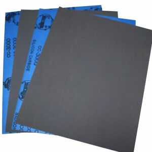 9 X11 Wet Dry Sandpaper Sheets 400 600 800 1000 2000 3000 5000 Grit Polish