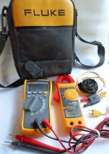 V Clean Hvac Fluke 116 Digital Multimeter 322 Clamp Meter W Leads