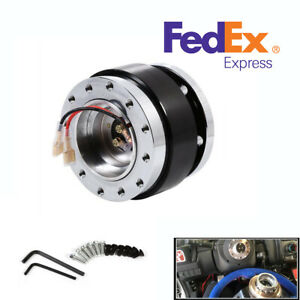 Us Stock 6 Hole Car Steering Wheel Quick Release Hub Adapter Snap Off Boss Kit