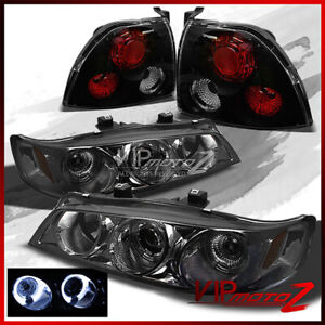 Limited For 94 95 Honda Accord Smoked Projector Headlights beast Black Tail Lamp