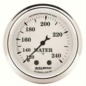 Autometer Old Tyme White Mechanical Water Temperature Gauge 2 1 16 Dia 1632