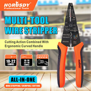 Professional Crimping Tool Multi tool Wire Stripper Cutter Crimper Insulated New