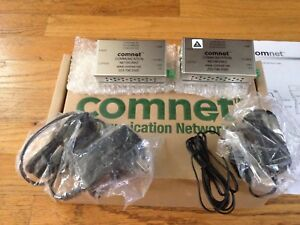 Pair Of Comnet Cnfe2mc m Mini 10 100mbps Media Converter Transceivers New