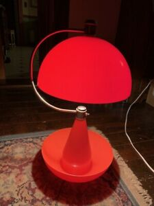 Mid Century Atomic Orange Lamp Vintage Retro