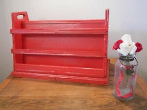 A Brandt Ranch Oak Solid Wood Vintage Magazine Rack Non Standard Gloss Red