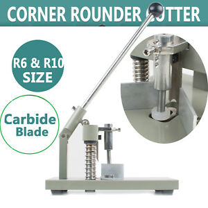 Usa Manual Paper Corner Rounder Cutter R6 R10 Aluminum All Metal Cutting Stack