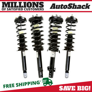 Front And Rear Complete Strut Coil Spring Assembly Set Of 4 For Honda Accord