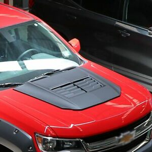 Fits 15 19 Chevrolet Colorado Air Design Custom Hood Scoop Satin Black Gm25a02