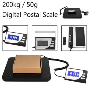 200kg 50g Parcel Scale Postal Postage Shipping Digital Weighing Platform Lcd Usa
